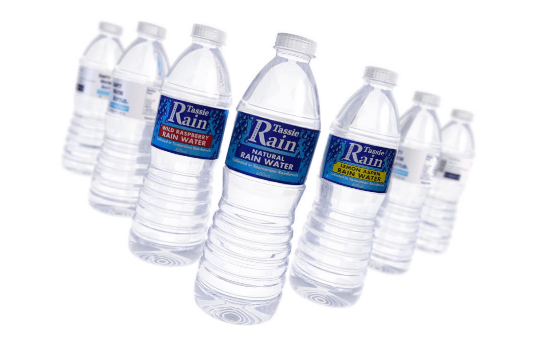 picture of water bottles with flavoured water